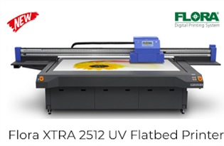 New Product Alert! Introducing Flora's XTRA 2512 UV LED Flatbed Printer